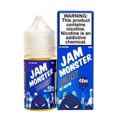 SALT Blueberry, 48 мг (Солевой никотин). JAM Monster - 30 мл