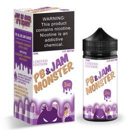 Peanut Butter & Grape Jam, 3 мг. Jam Monster. 100 мл