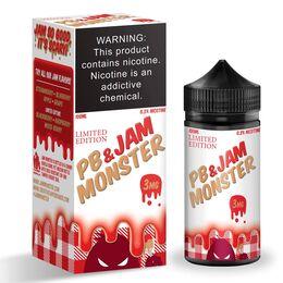 Peanut Butter & Strawberry Jam, 3 мг. Jam Monster. 100 мл