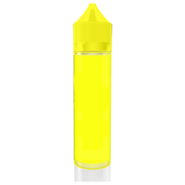 Бутылочка с носиком карандаш chubby unicorn v3, PET, 60мл, полностью желтая
