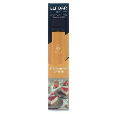 Creamy Series. Одноразовая электронная сигарета Elf Bar Pod Creamy Strawberry cheese 800