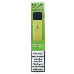 Одноразовая электронная сигарета Elf Bar Pineapple Peach Mango 1500 Puffs   50mg 850mAh
