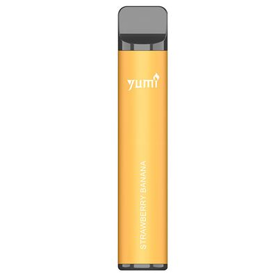 Одноразовая электронная сигарета Yumi. Strawberry Banana 1500 Puffs | 50mg 850mAh