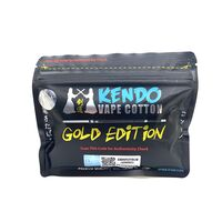 Kendo Vape Cotton Gold Edition (хлопок). вата для пермотки 0.35 oz (10 грамм.)