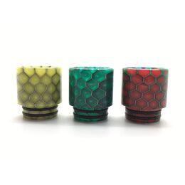 Дрип тип, мундштук делриновый, 810 Honeycomb, Цветной