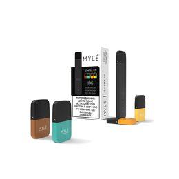 Электронная сигарета Myle Starter kit, 4 картриджа, 240 mAh, Черный