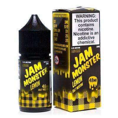 SALT Lemon, 48 мг (Солевой никотин). JAM Monster - 30 мл