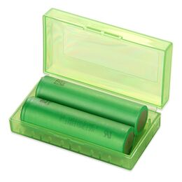 Кейс, футляр пластиковый для двух аккумуляторов 18650
