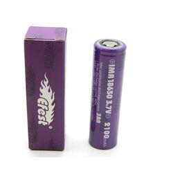 Высокотоковый Li-ion аккумулятор Efest Purple IMR18650 2100mAh  (до 38А)