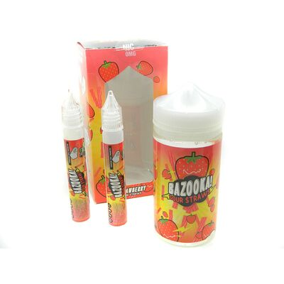 Strawberry Sour Straws, 0 мг (Без никотина). Bazooka Vape. 200 мл.