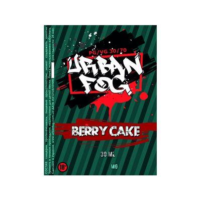 Berry Cake, 0 мг (Без никотина). Urban Fog. 30 мл.