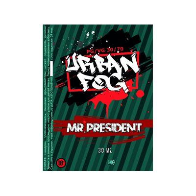 Mr. President, 0 мг (Без никотина). Urban Fog. 30 мл.