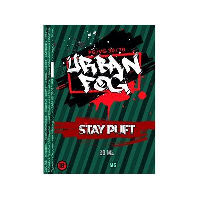 Stay Puft, 0 мг (Без никотина). Urban Fog. 30 мл.