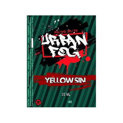 Yellow Sin, 0 мг (Без никотина). Urban Fog. 30 мл.