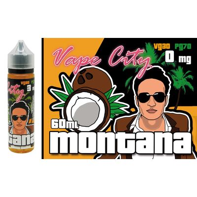 Montana, 0 мг (Без никотина). Vape City Club. 60 мл.