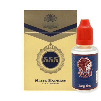 555, 18 мг (Крепкая). Vapor. Серия Deep Blue 30 мл.