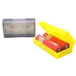 Кейс, GORILLA футляр пластиковый для двух аккумуляторов 18650, цвет в ассортименте