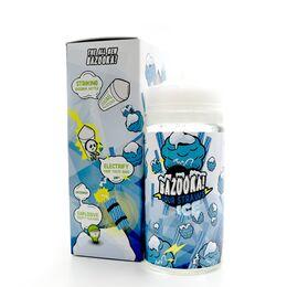 Blue Raspberry Sour Straws ice, 3 мг (Ультралёгкая). Bazooka Vape. 200 мл.