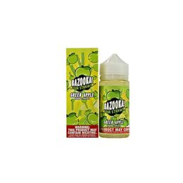 Green Apple Sour Straws, 3 мг (Ультралёгкая). Bazooka Vape. 100 мл