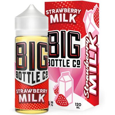 Strawberry Milk, 0 мг (Без никотина). Big Bottle Co. 120 мл.