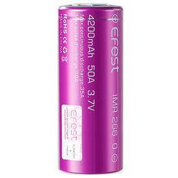 Высокотоковый Li-ion аккумулятор Efest INR26650 4200mAh  (до 50А)